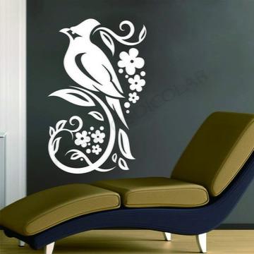 Adesivo - FLORAL - Pássaro floral