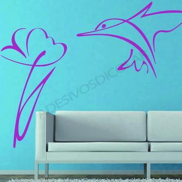 Adesivo - FLORAL - Beija flor