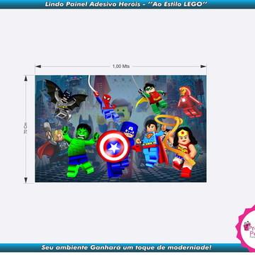 Painel Adesivo Decorativo - Heróis LEGO