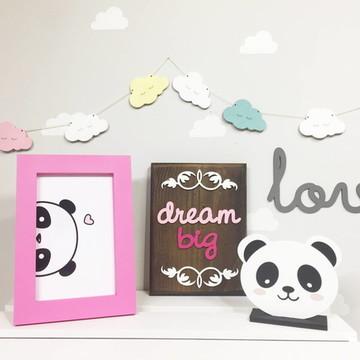 Kit com 5 peças Decoração Panda