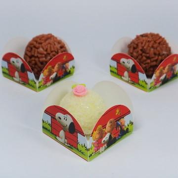 Forminhas 4 petalas - Snoopy