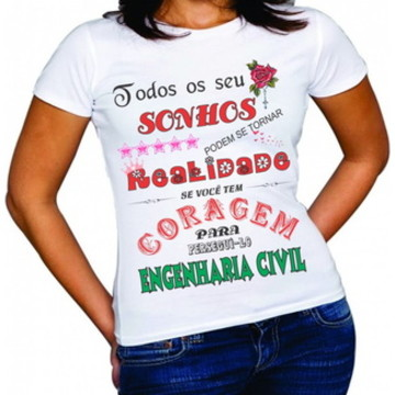 camiseta engenharia civil (curso)