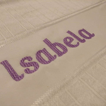 Toalha de Banho personalizada com nome