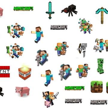 100 apliques Minecraft