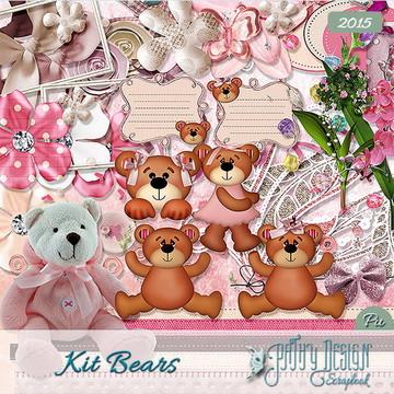 Kit Scrapbook Digital Bears - Ursos