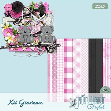 Kit Scrapbook Digital Giovana