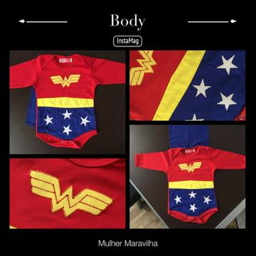 Body Mulher Maravilha Baby
