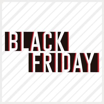 Adesivo de Vitrine Black Friday Vazado