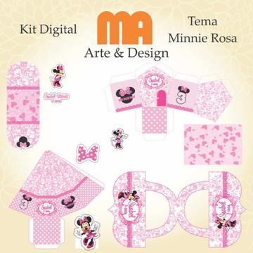 Arquivo de corte Minnie Rosa