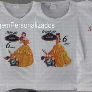Kit com 3 Camisetas A Bela e a Fera