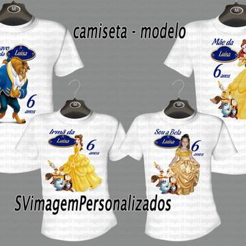 Camiseta Famíília a Bela e a Fera