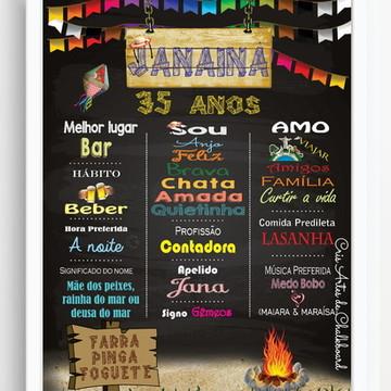Chalkboard Festa Junina