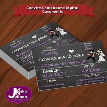 Convite Chalkboard Digital - Casamento