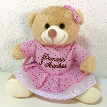 Ursinhas Poá rosa com marrom