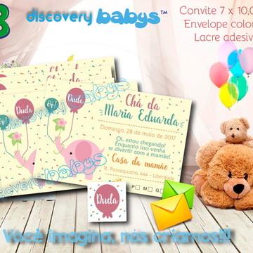 Convite Chá de Bebê Elefante
