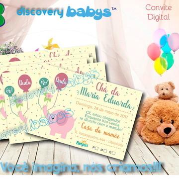 Convite Digital Chá de Bebê Elefante