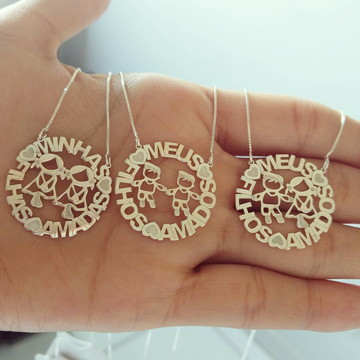 Gargantilha Mandala Filhos(as) em Prata