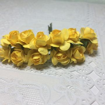 Flor de Papel Amarelo