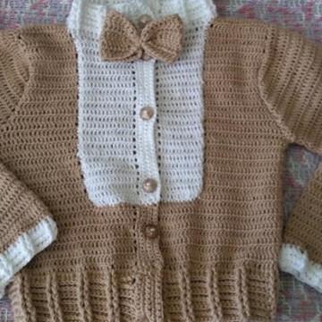 casaco infantil em croche -masculino