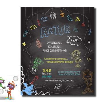 Arte - Convite Chalkboard Floogals