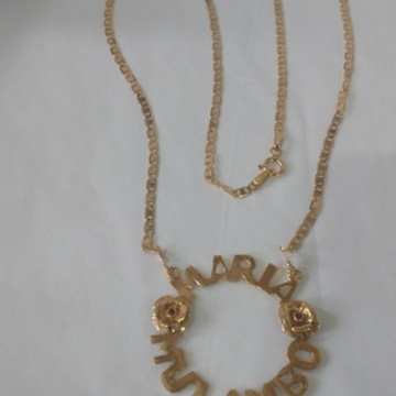 Mandala Maria Mulambo prata banhado ouro