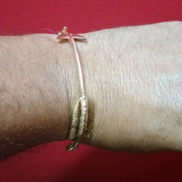 Bracelete Flecha prata banhado ouro
