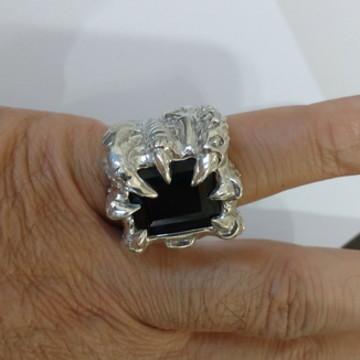 Anel Garra de Dragao em prata