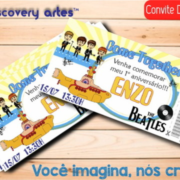 Convite Ingresso Digital Retro
