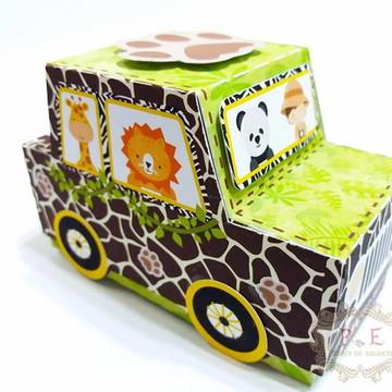 Caixa jipe Safari lembrancinha personalizada