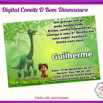 Convite Digital O Bom Dinossauro