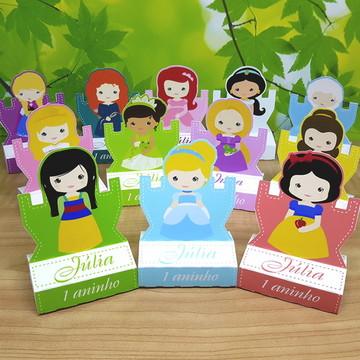 Porta Chocolate Princesas Cute