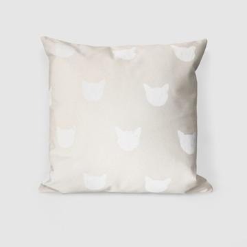 Capa Almofada Meow Branco