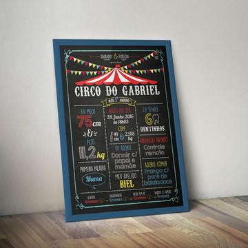 Chalkboard Meu 1o Aninho - Circo - A4