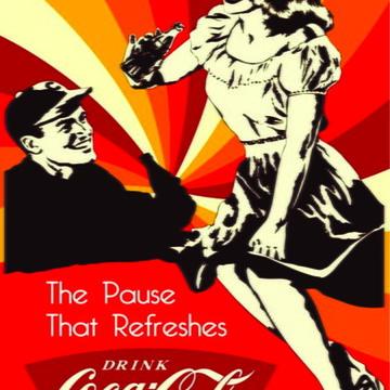 Quadro Decorativo Retro Vintage Coca Col