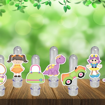 Tubetes Brinquedos Menina Tubo Ensaio Doces Festa