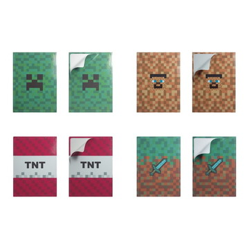 Adesivos MINECRAFT para tubetes