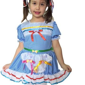 d3aae591a0 Vestido Festa Junina Infantil junino