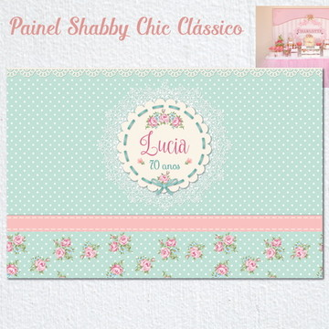 Painel SHABBY CHIC Clássico impresso