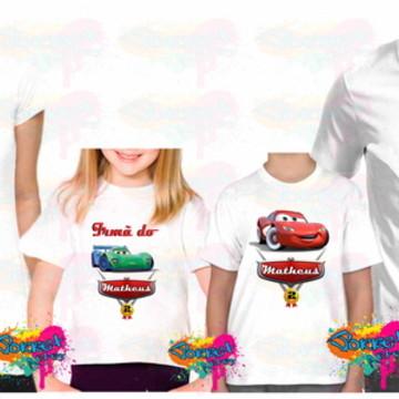 Camisas Carros Disney 4 Pçs