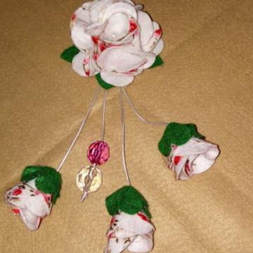 Chaveiro Flor em feltro