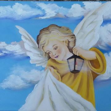 Pintura em Tela - Anjo