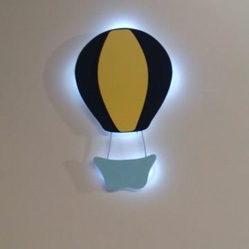 Enfeite maternidade balão com luz de led luminaria bebe