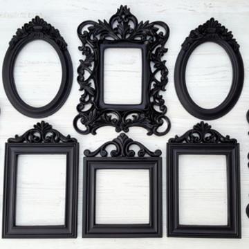 Kit 8 Espelhos Com Molduras Decorativas