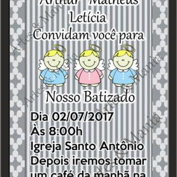 Convite Digital- Whatsapp Batizado