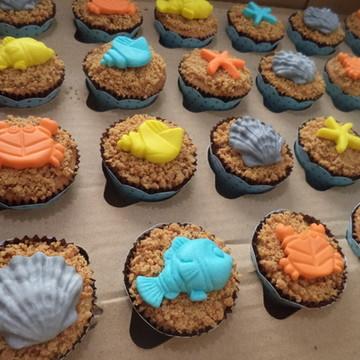 Mini Cupcakes - Fundo do Mar