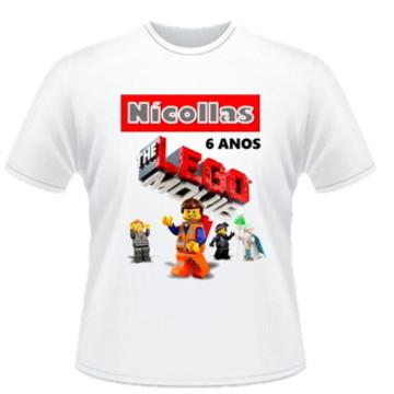 CAMISETA ANIVERSARIO DA LEGO C/1