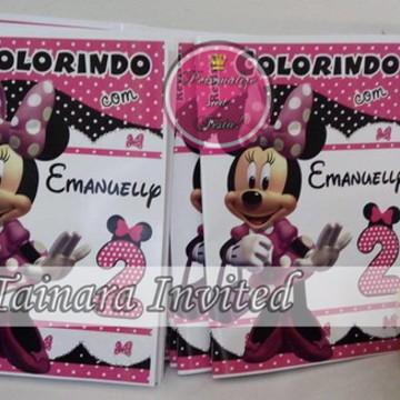 Kit colorir minnie rosa