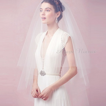 Véu Noiva Cobre-Rosto Simples veus01ci