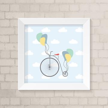 Quadro Infantil - Bicicleta Vintage