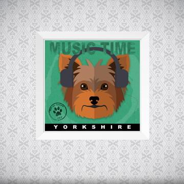 Quadro Music Time - Yorkshire - 20x20cm